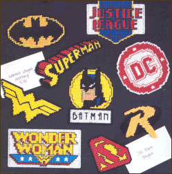 DC Comics Super Heroes Plastic Canvas Magnets