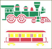 Toy Train Laser Cut Plastic Stencils