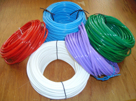 coat hangers On bendable tubing for crafts