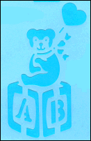 Stencil P540 - Bear On A Block