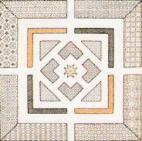 Blackwork embroidery for Tudor knot garden designs