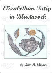 Elizabethan Tulip In Blackwork