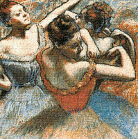 Krif # 538 - Dancers on the Stage (Degas)