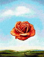 Krif # 606 - The Meditative Rose (Dali)