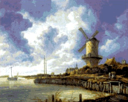 Krif # 10001 - Mill at Wijk (Van Ruisdael)