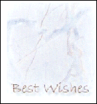 Best Wishes - Blue Heart Marble