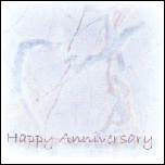 Happy Anniversary - Blue Heart Marble