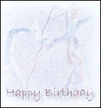 Happy Birthday - Blue Heart Marble