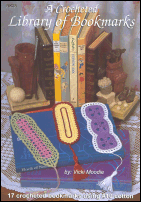 A Crocheted Library of Bookmarks