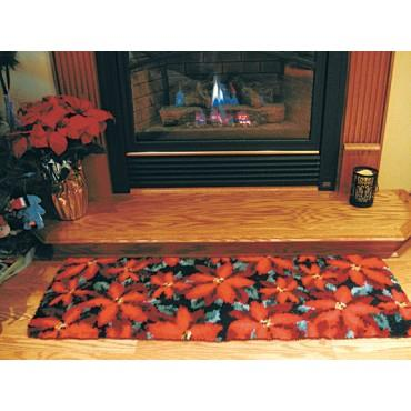 Poinsettia Rug Kit