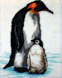 Penguin Mum & Baby Rug Kit